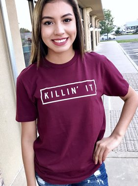"Burgundy ""Killin' It"" T-shirt"