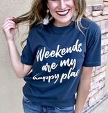 """Navy """"Weekends"""" T-Shirt"""