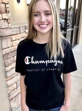 "Black ""Champagne"" T-shirt"