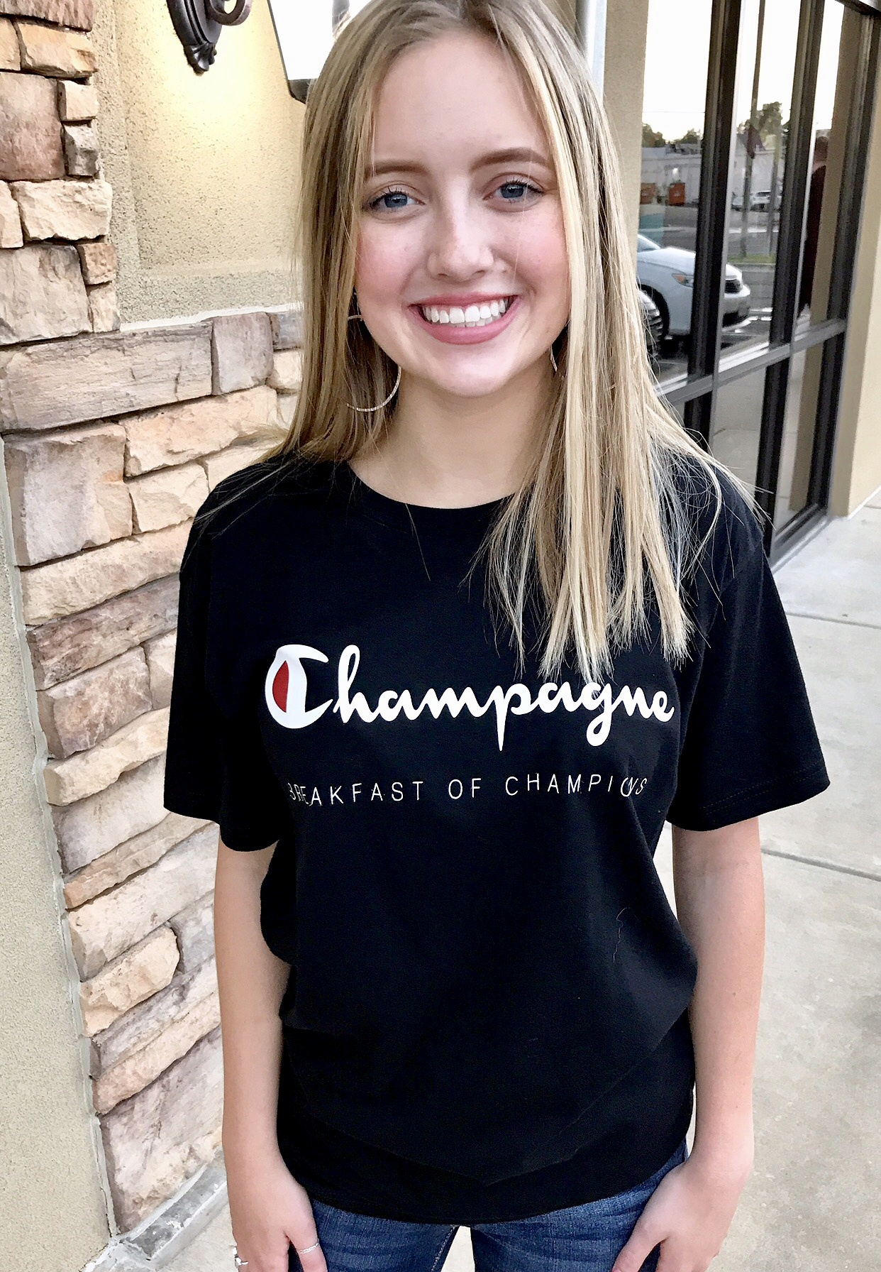 "Black ""Champagne"" T-shirt"