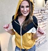 Rainy Day Mustard/Grey Wind Breaker