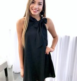 Girl's Night Out Bow Dress Black
