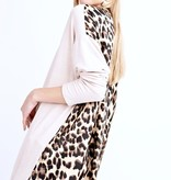 Oatmeal Long Sleeve Animal Print Back Top