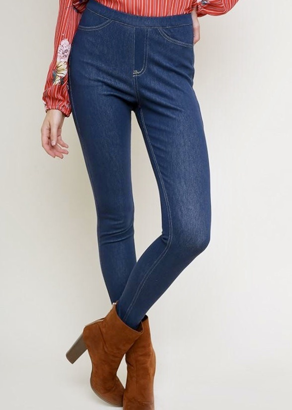 Semi-Dark High Waist Stretch Jeggings