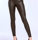 Black High Waist Snake Skin Leggings