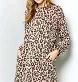 Mocha Leopard Tunic Dress