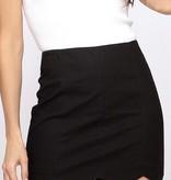Black Scalloped Skirt