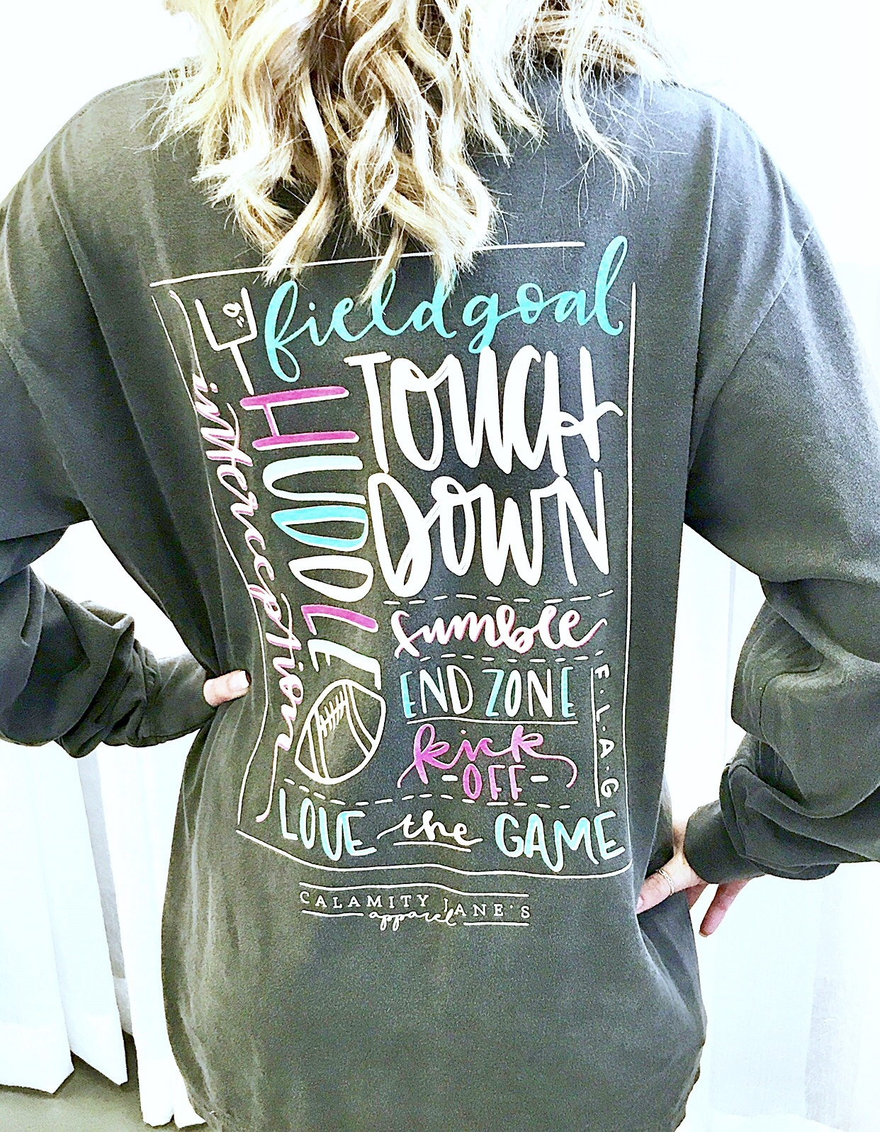 Grey Football Life Story Board Long Sleeve T-Shirt