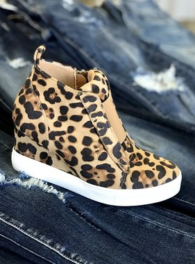 Zoey Leopard Sneaker Wedge