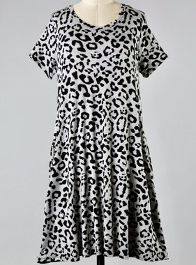 Heather Gray Leopard Dress