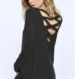 Black Caged Back Sweater
