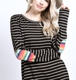 Black Perfect Timing Striped Top