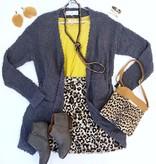 Cream Mix Leopard Skirt