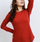 Red LS Knit Top