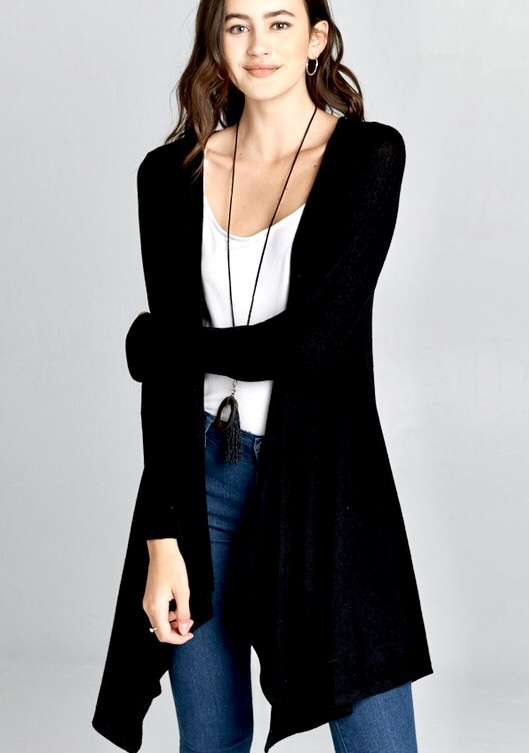 Black Soft and Cozy Cardigan