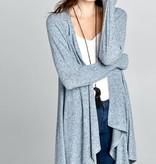 Blue-Grey Soft and Cozy Cardigan