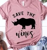 """Save The Winos"" Mauve Color T-Shirt"