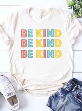 """Be Kind"" Block Letter T-Shirt"