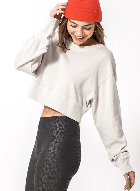 LS Cropped Sweater Alpaca