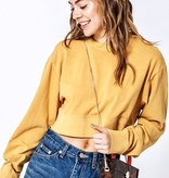 LS Cropped Sweater Mustard