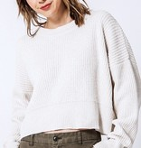 LS Cropped Knit Sweater