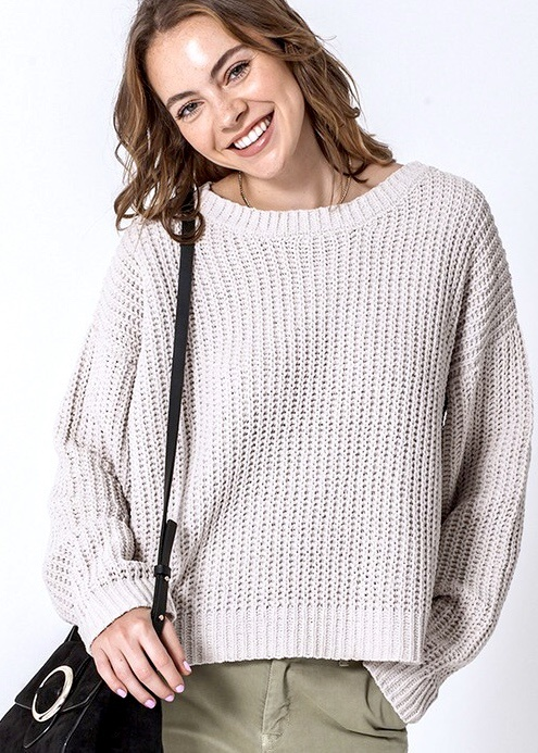 Alpaca Chenille Knit Sweater