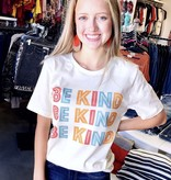 """Be Kind"" Block Letter T-Shirt"