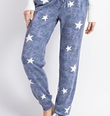 Vintage Denim Wash Star Joggers
