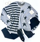 Heather Grey Flag Knitted Sweater Top