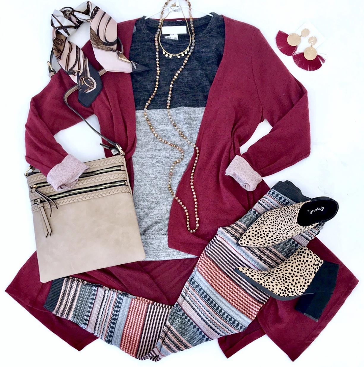 Burgundy Soft and Cozy Cardigan