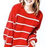 Red/White Stripe Sweater