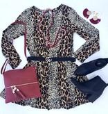 Camel Mix LS Round Neck Dress