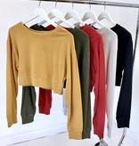 LS Cropped Sweater Olive