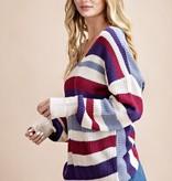 Purple Mix Twisted Back Sweater