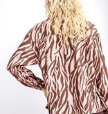 Dusty Rose Zebra Jacket