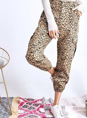 Khaki Leopard Cargo Pants