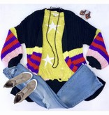Lime Star Print Sweater