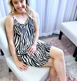 Taupe Zebra Satin Dress