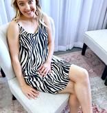 Taupe Zebra Satin Dress