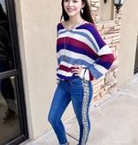 Judy Blue Leopard Side Skinny Jean