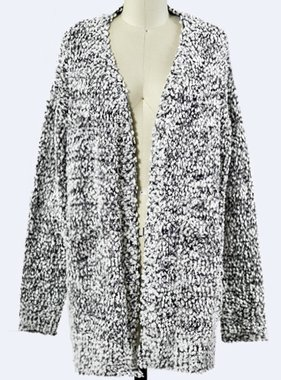 Black/White Popcorn Cardigan