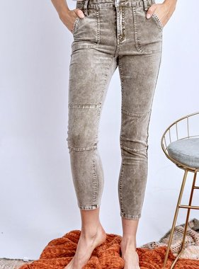 Faded Olive Jeans