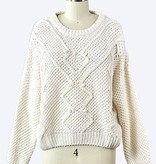Ivory LS Knit Top
