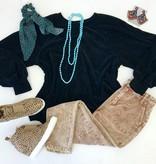 Black Soft Knit LS Top