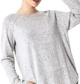 Heather Grey Soft Knit LS Top