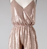 Rose Gold Sequin Cami Romper
