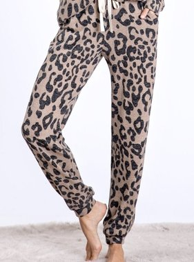 Leopard Knit Sweatpants