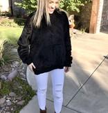 Black LS Hooded Top