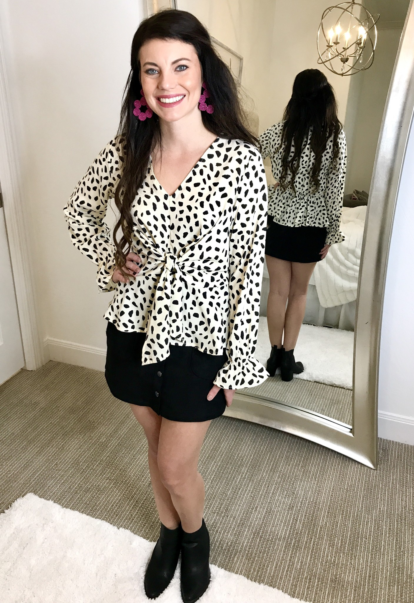 Cream LS Cheetah Top