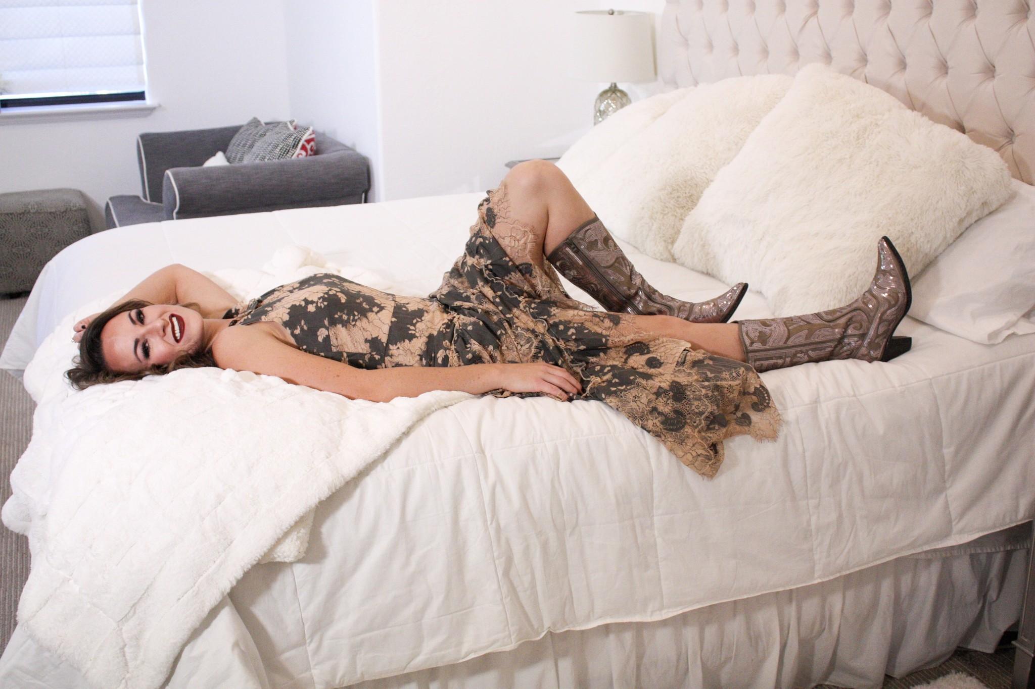 Vintage Lace Hi-Low Dress